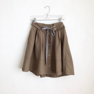 Anthropologie olive skirt buttoned down military 4